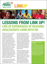 Link Up experiences of reaching adolescents living with HIV