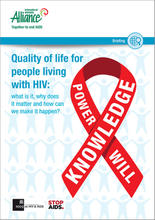 Quality of life for people living with HIV